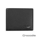 Crocodile 經典系列荔紋軟皮縫線短夾 0103-07404-01
