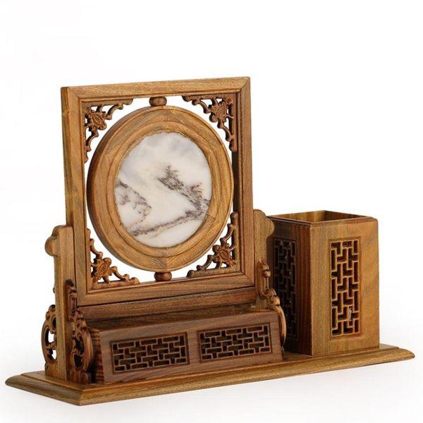 [超豐國際]黑檀木雕工藝品 紅木工藝品 家居飾品木雕擺件木雕1入
