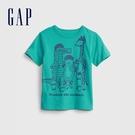Gap男幼童 布萊納系列 童趣印花短袖T恤 681409-松石綠