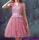 (45 Design) 訂製款 7天到貨洋裝 短禮服 蕾絲背心裙 繡花修身無袖 連身裙 小禮服3
