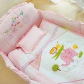 GMP BABY 寢具組-動物園加厚七件組-粉