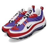 Nike 復古慢跑鞋 Wmns Air Max 98 紫 黑 女鞋 運動鞋 氣墊 Raptors 【PUMP306】 AH6799-501