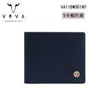 【橘子包包館】VOVA 費城系列 真皮 5卡相片夾 男用短夾 VA118W001NY 深海藍