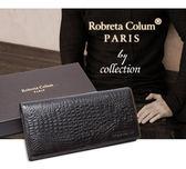 Roberta Colum - 經典鱷魚紋魅力真皮多功能長夾-共2色