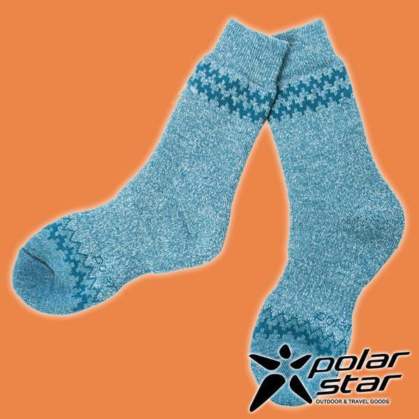 【PolarStar】羊毛保暖雪襪『藍綠』P19609 露營.戶外.登山.羊毛襪.保暖襪.彈性襪.休閒襪.長筒襪.襪子