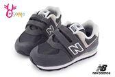 New Balance 574 小童運動鞋 復古慢跑鞋 O8414#黑灰◆OSOME奧森童鞋