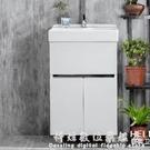 不銹鋼浴室櫃小戶型洗衣池帶搓板陶瓷洗衣盆...