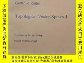 二手書博民逛書店Topological罕見Vector Spaces I( :1