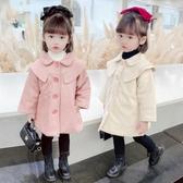 女童毛呢外套 童裝女童冬裝2020新款韓版呢子大衣寶寶洋氣毛呢外套兒童秋冬上衣 零度3C