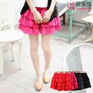 質感OL褲裙--褲裙搖擺素面棉質蛋糕裙(黑.紅.藍XL-4L)-Q44眼圈熊中大尺碼◎