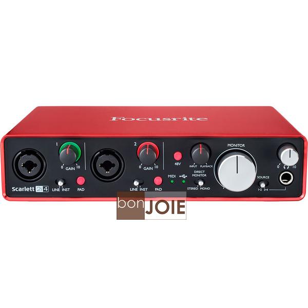::bonJOIE:: 美國進口 第二代 Focusrite Scarlett 2i4 (2nd Gen) USB 錄音介面 2in/4out Audio Interface 錄音盒 錄音卡