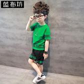 男童夏2018新款套裝兒童短袖t恤韓版中大童半袖上衣 SG3941【潘小丫女鞋】