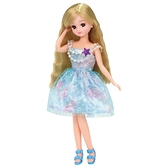 莉卡娃娃配件 LW-02 水藍美人魚泡泡洋裝組_LA16796