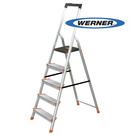 美國Werner穩耐安全梯-L235R-2 鋁合金寬踏板5階梯   大平台 鋁梯 A字梯 梯子