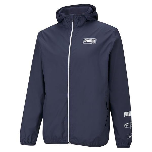 PUMA 男款藍色基本系列Rebel風衣外套-NO.58726606