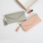 錢包女長款2019新款韓版簡約個性零錢卡包多功能手拿超薄軟皮錢夾 米娜小鋪