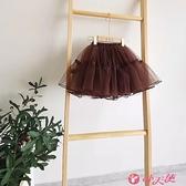 女童半身裙 女童半身裙新款兒童公主裙蓬蓬裙紗裙女孩外出仙女短裙子 小天使