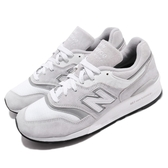 New Balance 復古慢跑鞋 997 NB 灰 白 USA製 美製 麂皮鞋面 運動鞋 男鞋【PUMP306】 M997LBGD