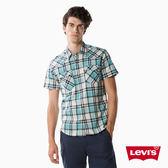 Levis 襯衫 短袖 男裝 / 藍白格紋
