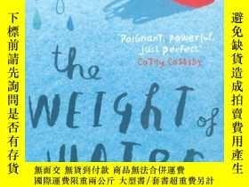 二手書博民逛書店水的重量罕見Sarah Crossan: the weight
