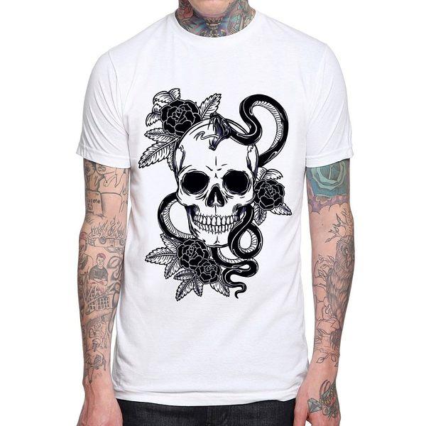 【Dirty Sweet】Skul-Snake短T 3色 骷髏刺青硬派平價時尚設 搖滾龐克390 gildan
