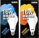 SAMPO LED16W燈泡-白光/黃光 降價50元最優惠