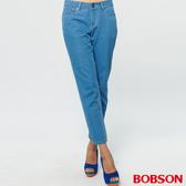 BOBSON 女款低腰輕量貼合直筒褲(8191-58)