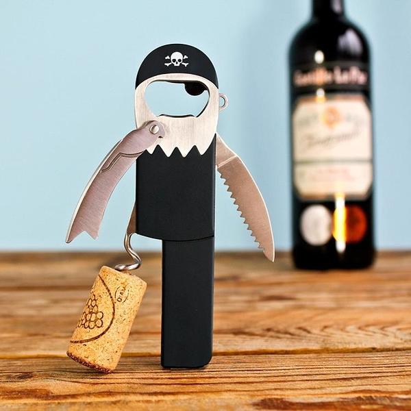 英國Suck UK 創意胡克海盜船長造型紅酒開瓶器 啤酒瓶起瓶器 工具