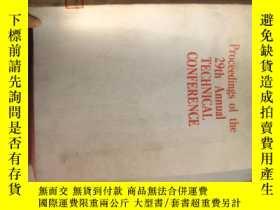 二手書博民逛書店PROCEEDINGS罕見OF THE 29TH ANNUAL