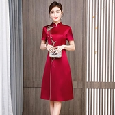 敬酒服旗袍紅色改良中國風洋裝結婚2021春夏新款婚宴婚禮洋裝女 幸福第一站