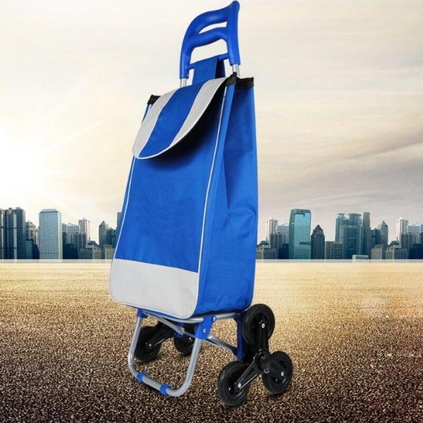 【DF120】爬樓梯折疊購物車 可爬梯菜籃車 360度手推車 買菜車 EZGO商城