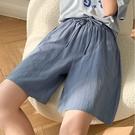純棉顯瘦鬆緊帶褲頭5分褲 獨具衣格 J3687