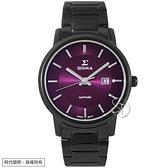 【台南 時代鐘錶 SIGMA】簡約時尚 藍寶石鏡面 日期顯示 鋼錶帶女錶 1122MB15 紫/黑 39mm