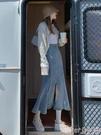 牛仔半身裙 牛仔魚尾裙半身裙開叉2021年春秋季新款高腰顯瘦彈力中長款包臀裙 suger