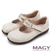 MAGY 樂活舒適 真皮Q軟厚底包鞋-米色