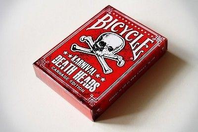 【USPCC 撲克】Bicycle Karnival death heads carnage 限量牌 紙牌