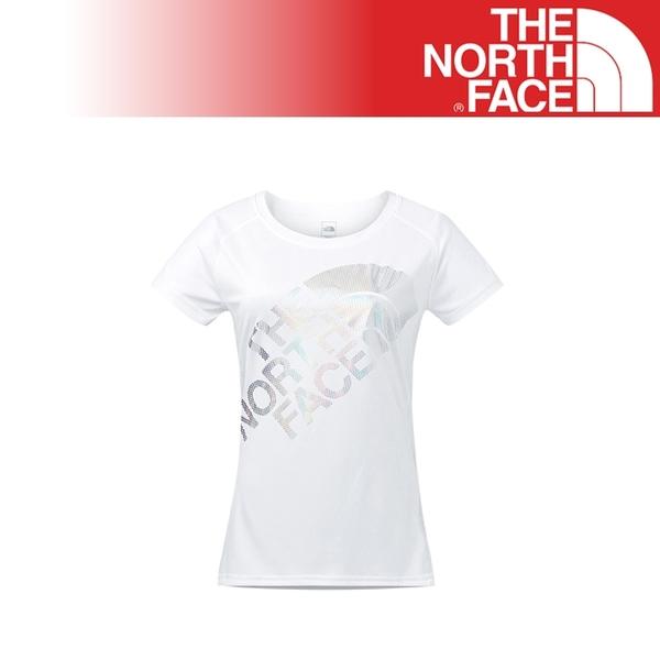 【The North Face 女 Logo短T《白》】2XUZ/吸濕排汗/透氣/運動/戶外/休閒上衣