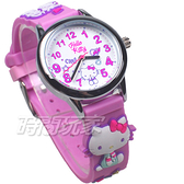 HELLO KITTY 凱蒂貓 甜心夢鄉 俏麗腕錶 立體矽膠錶帶 紫色 女錶 KT075LWWV