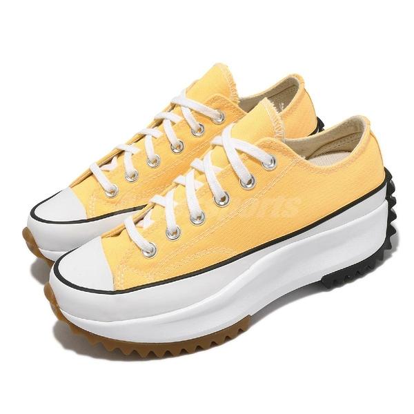 Converse 休閒鞋 Run Star Hike Low 黃 白 女鞋 低筒 鋸齒鞋 厚底 【ACS】 170778C