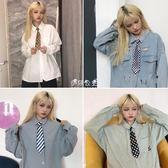 韓國ulzzang土酷女孩蹦迪復古配飾時尚百搭小領帶學生潮  伊莎公主