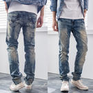 高磅數美式復古做風牛仔褲