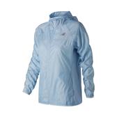 NEW BALANCE 女裝 外套 連帽 休閒 反光條 乾爽 舒適 透氣 藍【運動世界】AWJ91159AIR