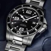 【送品牌禮物】黑水鬼深64小時動力儲存300米防水海征服者系列機械男錶L37414566黑水鬼39mm