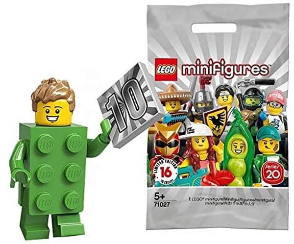 LEGO 樂高 迷你手辦 系列20 LEGO拼塊角色扮演年份 Brick Costume Guy 【71027-13】