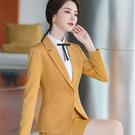 顯瘦線條剪裁一粒扣新鮮人面試長袖西裝外套[20X075-PF]美之札
