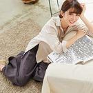 【慢。生活】寬鬆下襬開衩襯衫 9191 FREE杏色