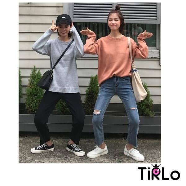 針織衫-Tirlo-推薦!優質百搭圓領針織衫-14色(現+追加預計5-7工作天出貨)