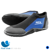 AROPEC 3mm 短筒膠底鞋 潛水鞋 潛水 衝浪 攀岩 -Palm(黑藍色)