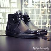 雨鞋 男士低筒雨鞋短筒成人水鞋時尚平底工作鞋防滑雨靴防水廚師鞋 晴天時尚館