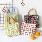 帆布包 ins日韓小清新碎花外出野餐可愛草莓便攜手提包帆布袋午餐袋包包 3C數位百貨